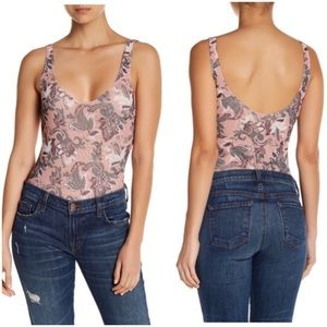 Tops - Free People Printed Woven Bodysuit